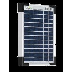 Placa solar de 5W,  ideal para el suministro de corriente electrica en ubicaciones sin acceso a la red eléctrica.