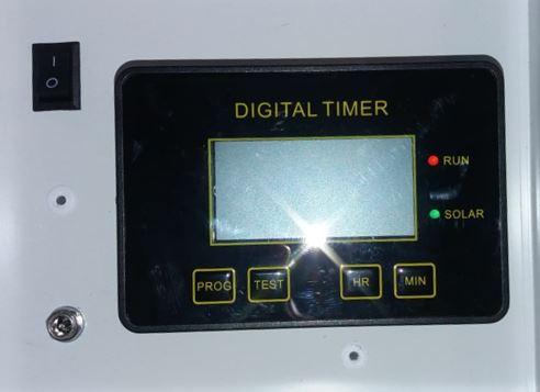 Temporizador utilizado en comederos automáticos para caballos